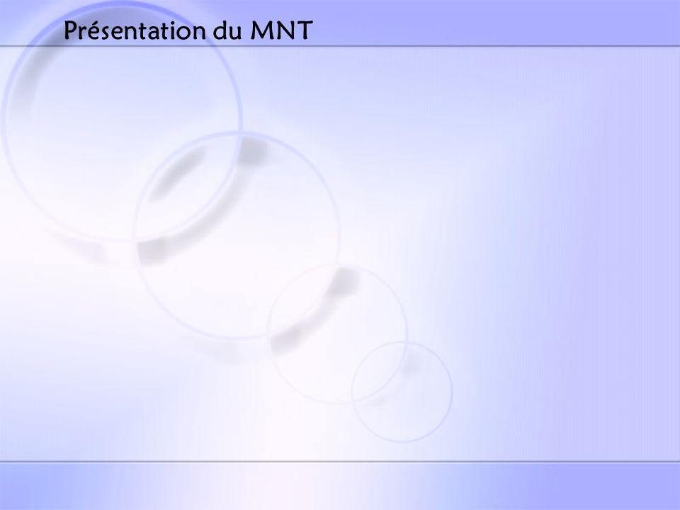 Présentation du MNT