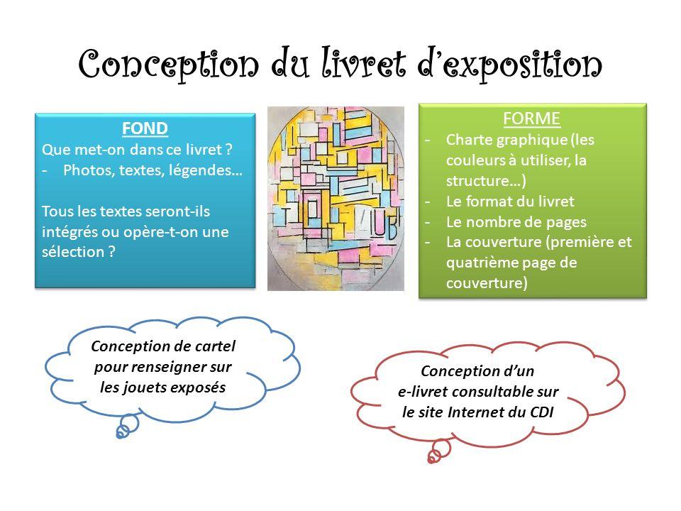 Conception du livret dexposition FOND Que met-on dans ce livret .
