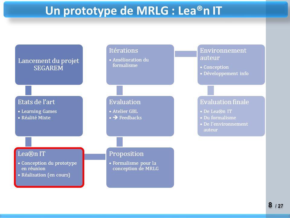 8 8 / 27 Un prototype de MRLG : Lea®n IT