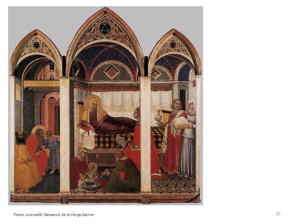 Pietro Lorenzetti: Naissance de la Vierge,Sienne 10