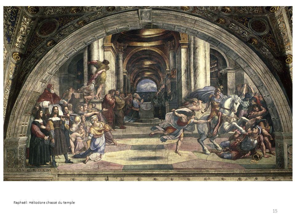 Raphaël: Héliodore chassé du temple 15