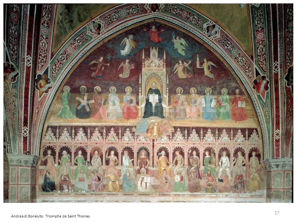 Andrea di Bonaiuto: Triomphe de Saint Thomas 17