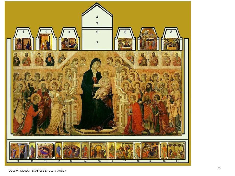 Duccio : Maesta, 1308-1311, reconstitution 25