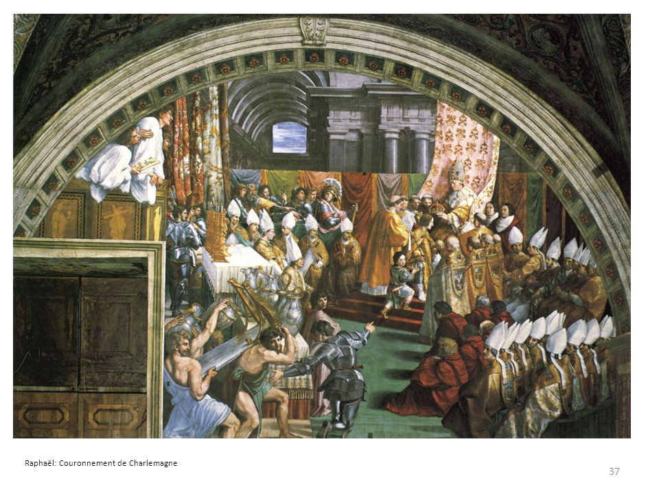 37 Raphaël: Couronnement de Charlemagne