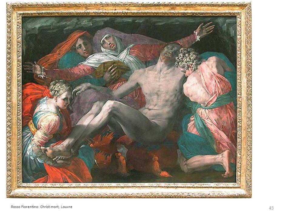 43 Rosso Fiorentino: Christ mort, Louvre