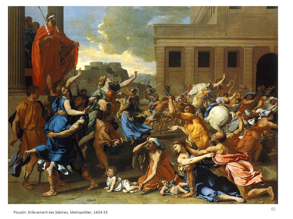 45 Poussin: Enlèvement des Sabines, Metropolitan, 1634-35