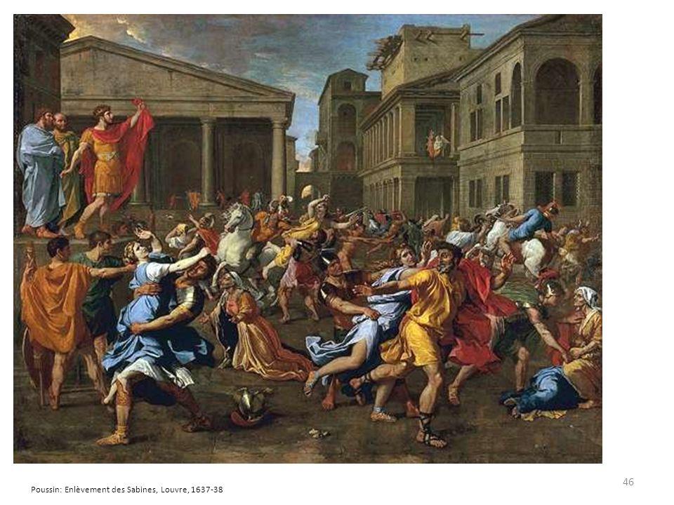 46 Poussin: Enlèvement des Sabines, Louvre, 1637-38