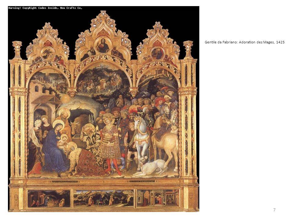 Gentile da Fabriano: Adoration des Mages, 1425 7