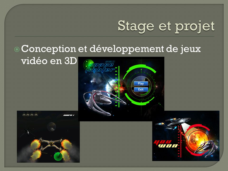 Conception et développement de jeux vidéo en 3D
