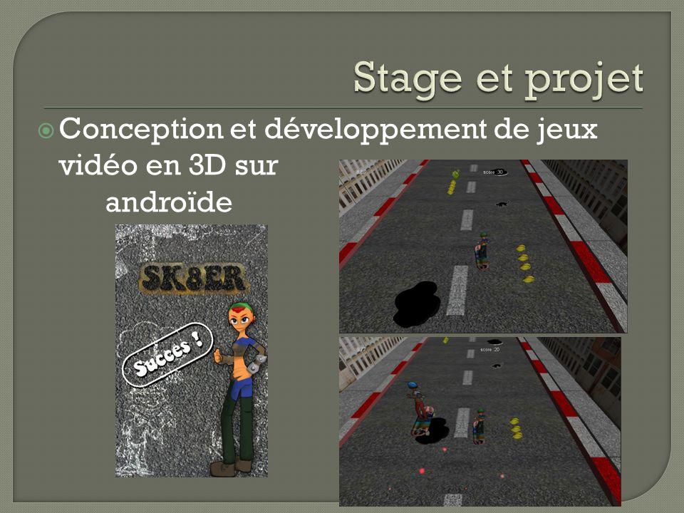 Conception et développement de jeux vidéo en 3D sur androïde