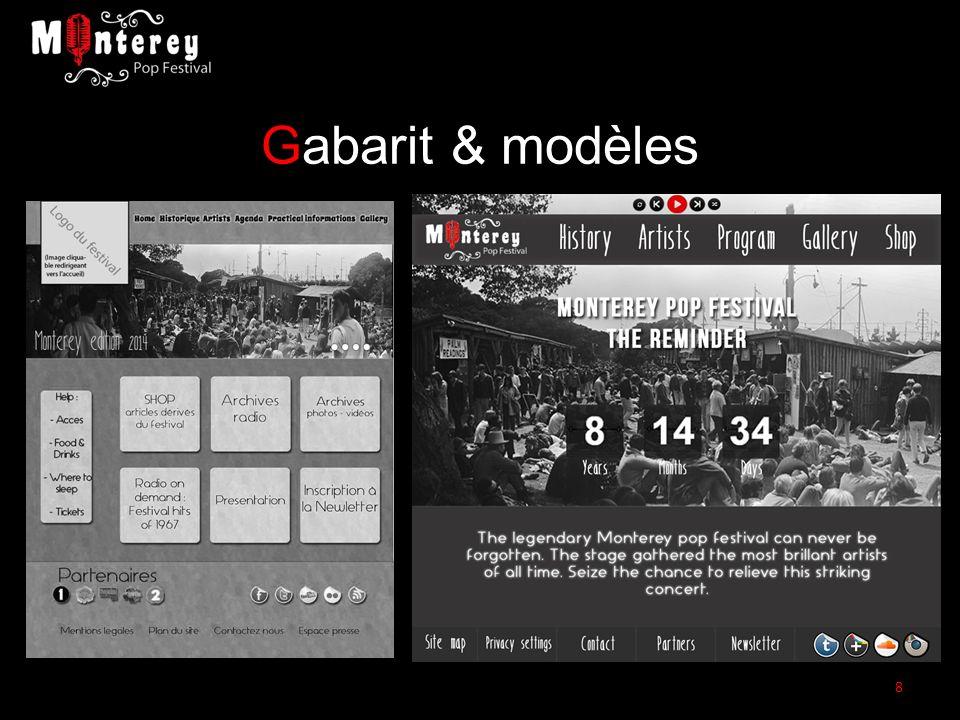 Gabarit & modèles 8