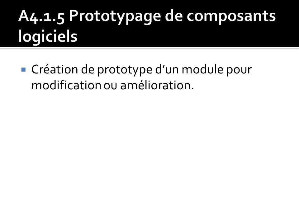 Création de prototype dun module pour modification ou amélioration.