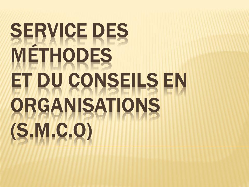 Objectif principal du SMCO Améliorer les capacités des entreprises et des centres de formations professionnelles et techniques