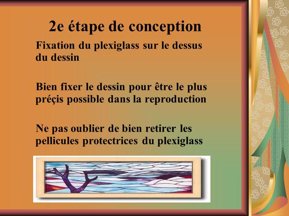 3e étape de conception Le concepteur doit décider de lemplacement des couleurs.