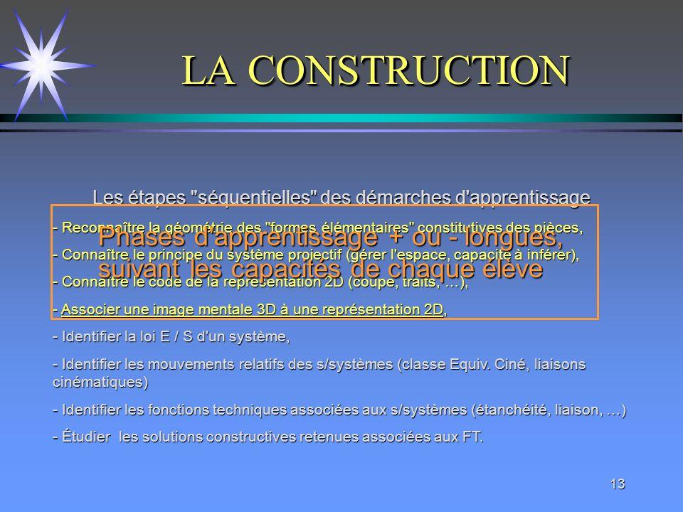 13 LA CONSTRUCTION Les étapes