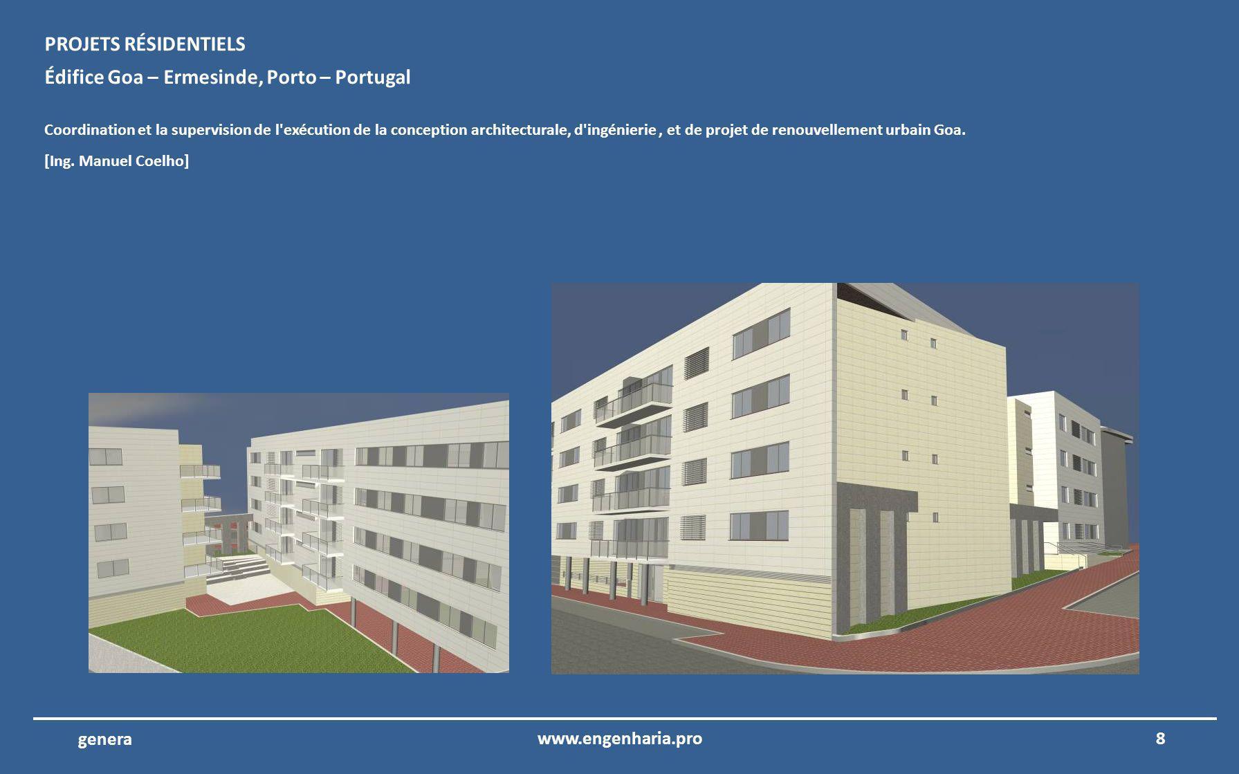 Nous présentons ensuite les images du portfolio de projet de ingénierie de la société Genera 7www.engenharia.pro genera