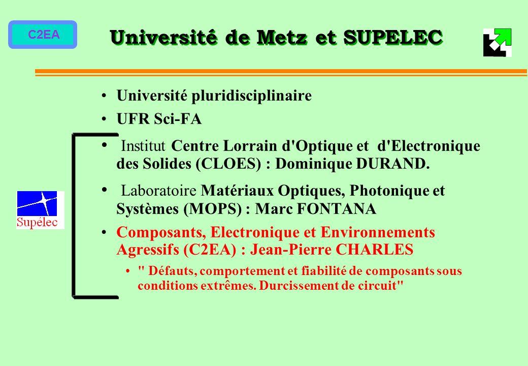 C2EA Université de Metz et SUPELEC Université pluridisciplinaire UFR Sci-FA Institut Centre Lorrain d'Optique et d'Electronique des Solides (CLOES) :