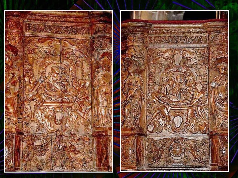Cette église contient des pièces sculptées d'une grande beauté, d'une finesse inouïe. À elle seule, cette chaire mériterait un diaporama ! Chaire (167
