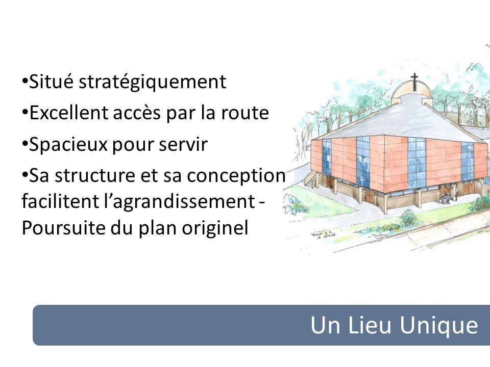 Un Lieu Unique Situé stratégiquement Excellent accès par la route Spacieux pour servir Sa structure et sa conception facilitent lagrandissement - Poursuite du plan originel