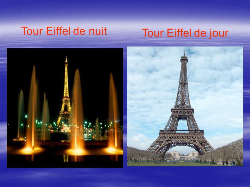 Tour Eiffel de nuit Tour Eiffel de jour