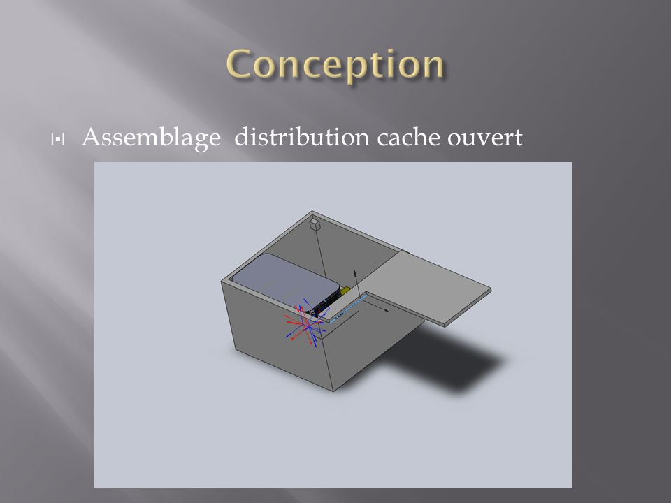 Assemblage distribution cache ouvert