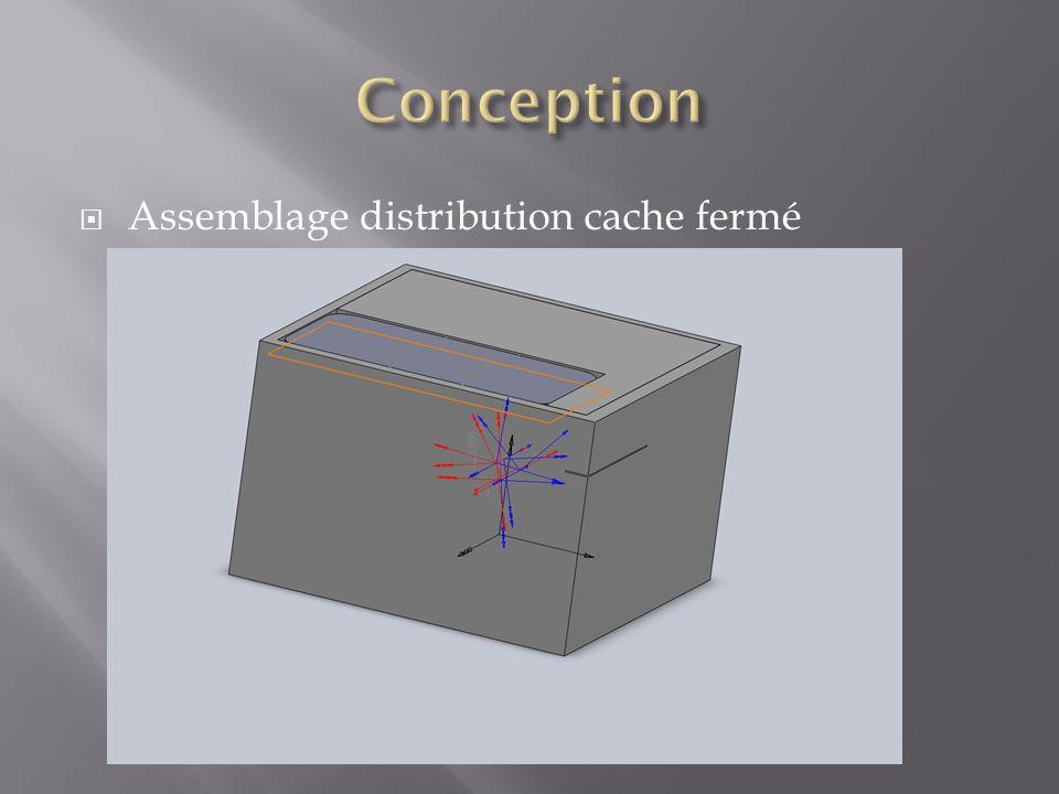 Assemblage distribution cache fermé