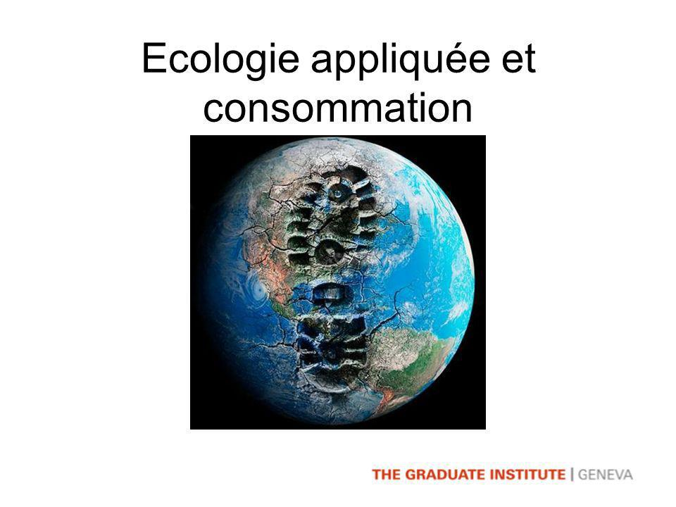 Ecologie appliquée et consommation
