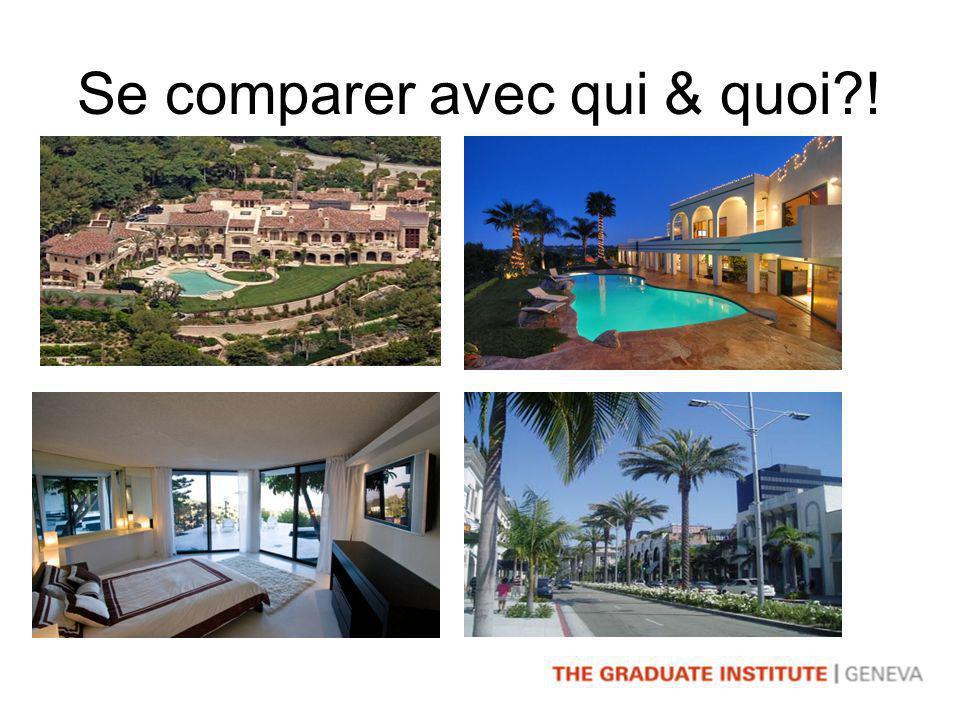 Se comparer avec qui & quoi !