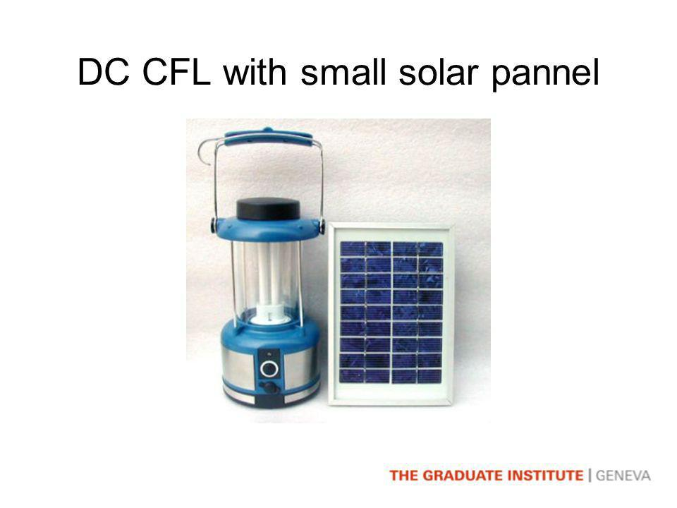 DC CFL with small solar pannel