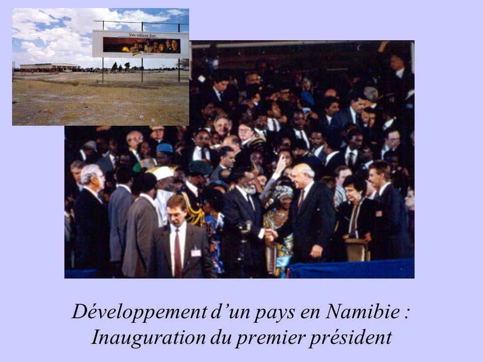 Développement dun pays en Namibie : Inauguration du premier président