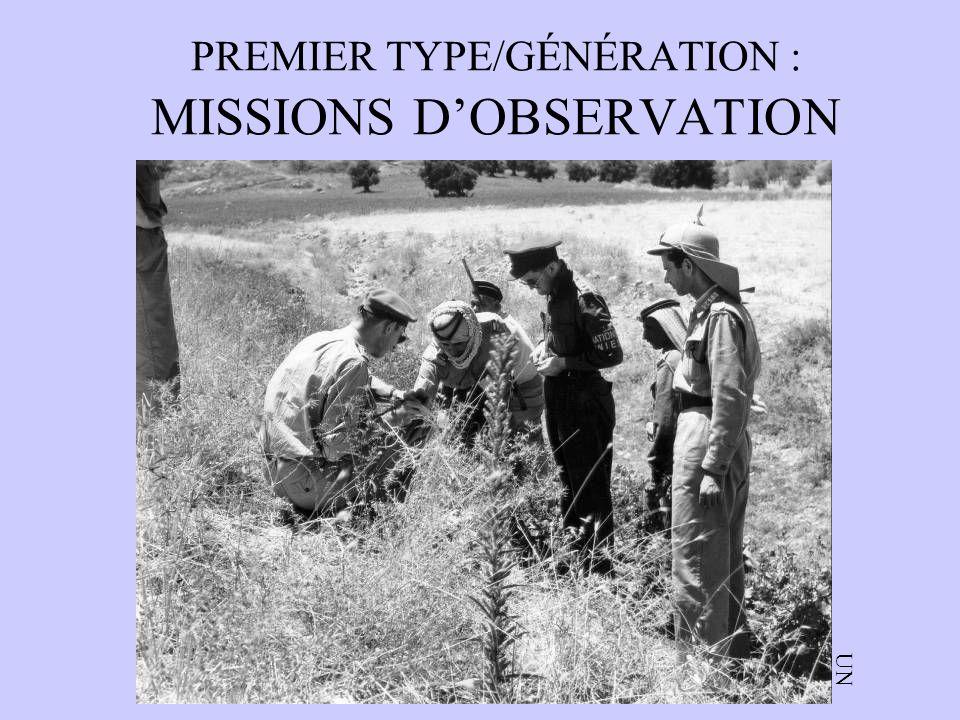 PREMIER TYPE/GÉNÉRATION : MISSIONS DOBSERVATION UN