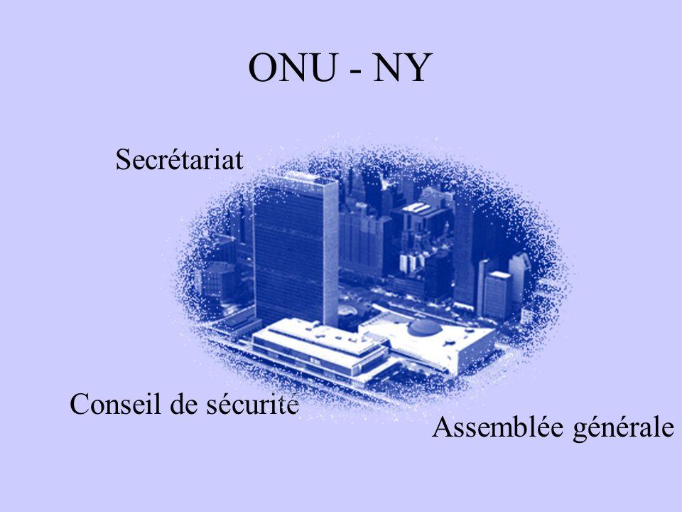 ONU - NY Secrétariat Assemblée générale Conseil de sécurité