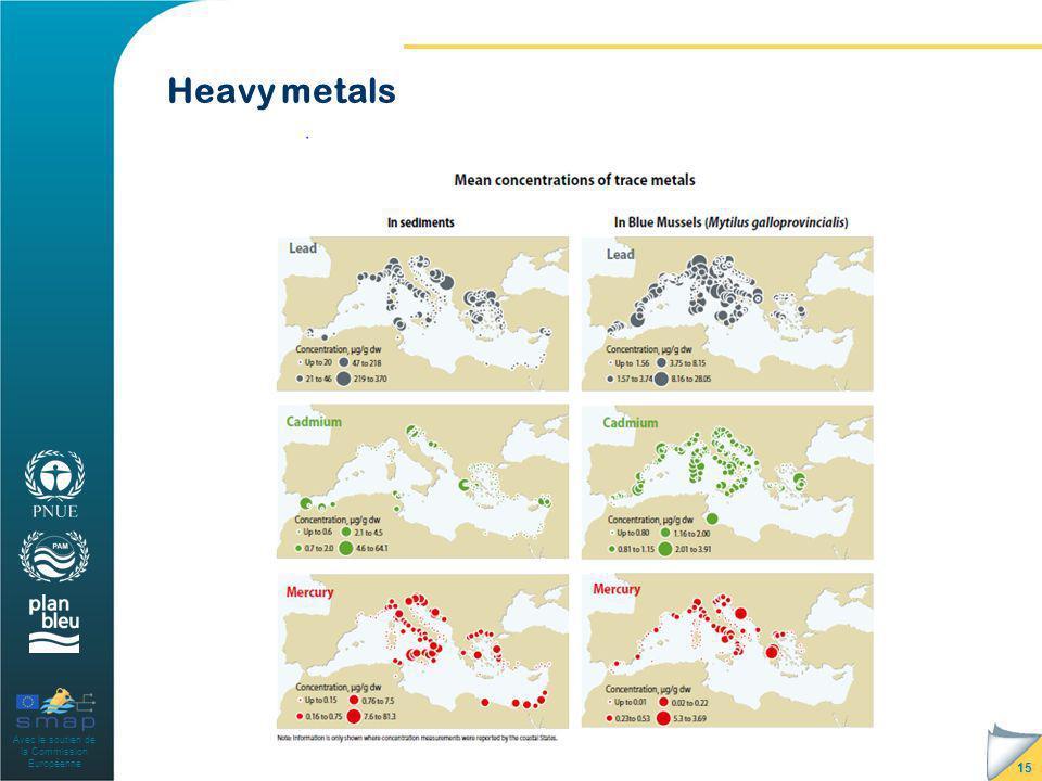 Avec le soutien de la Commission Européenne 15 Heavy metals