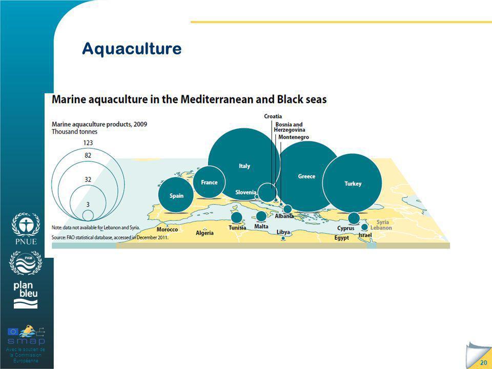 Avec le soutien de la Commission Européenne Aquaculture 20