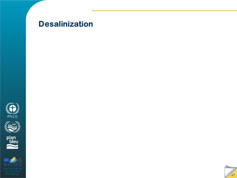 Avec le soutien de la Commission Européenne Desalinization 23
