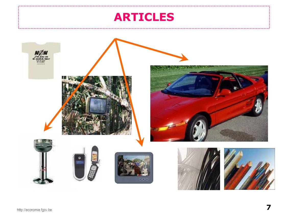 http://economie.fgov.be Fabricant Importateur Utilisateur en aval Distributeur Consommateur Différents rôles : 1.