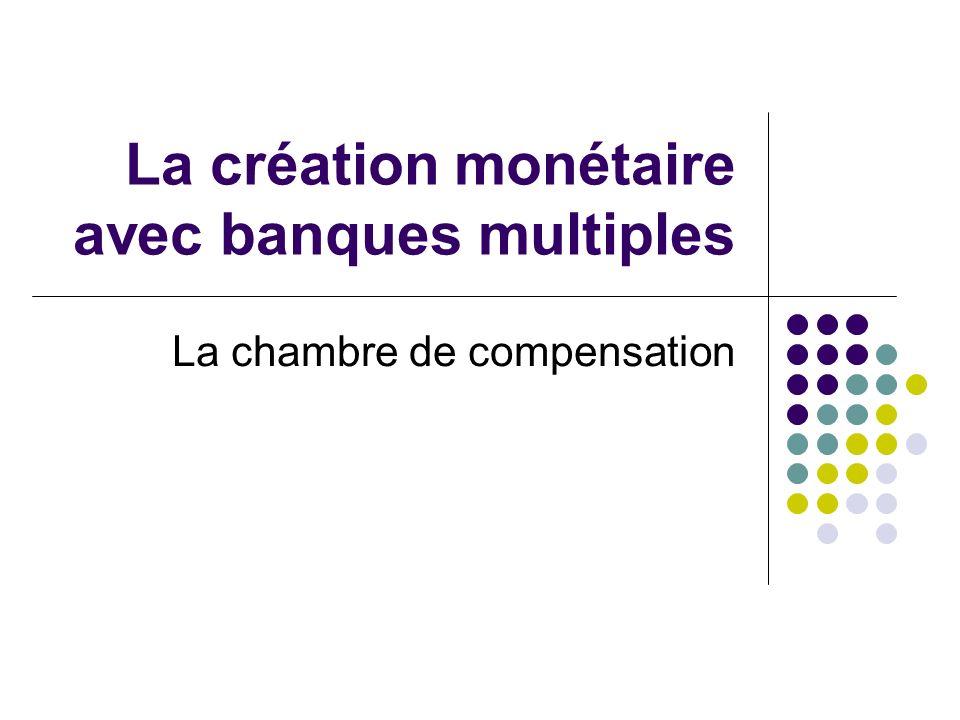 La création monétaire avec banques multiples La chambre de compensation
