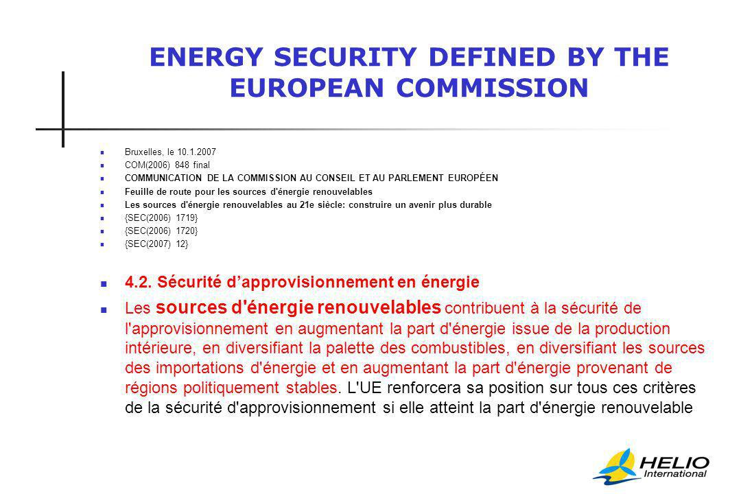 ENERGY SECURITY VIA IMPROVED GOVERNANCE WHY is this recommandation not applied.