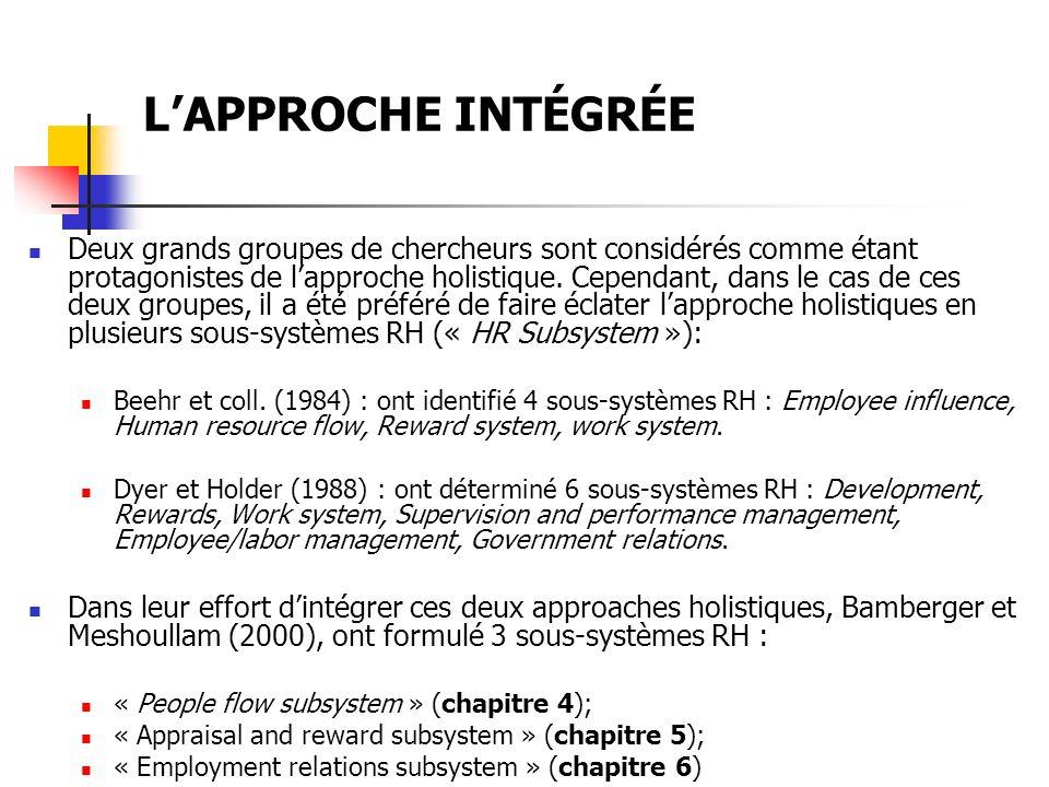 LAPPROCHE INTÉGRÉE Tableau 3 3 :Typologie des stratégies dominantes selon les moyens.