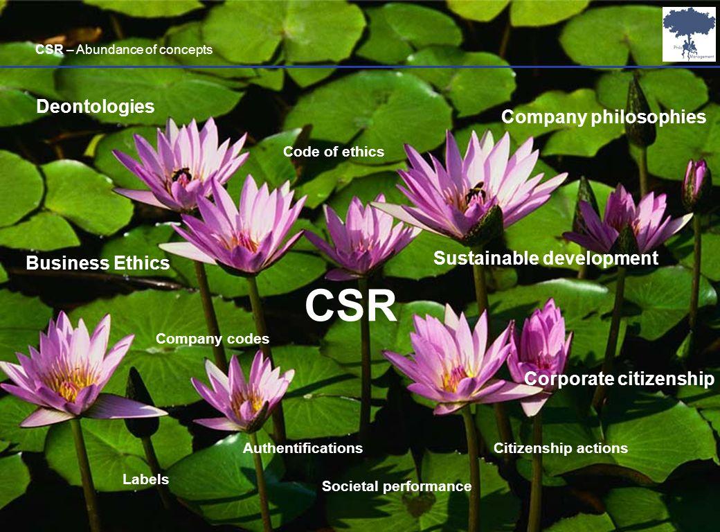 Laurent Ledoux 29 CSR Business Ethics Sustainable development Corporate citizenship Code of ethics Authentifications Labels Societal performance Deont