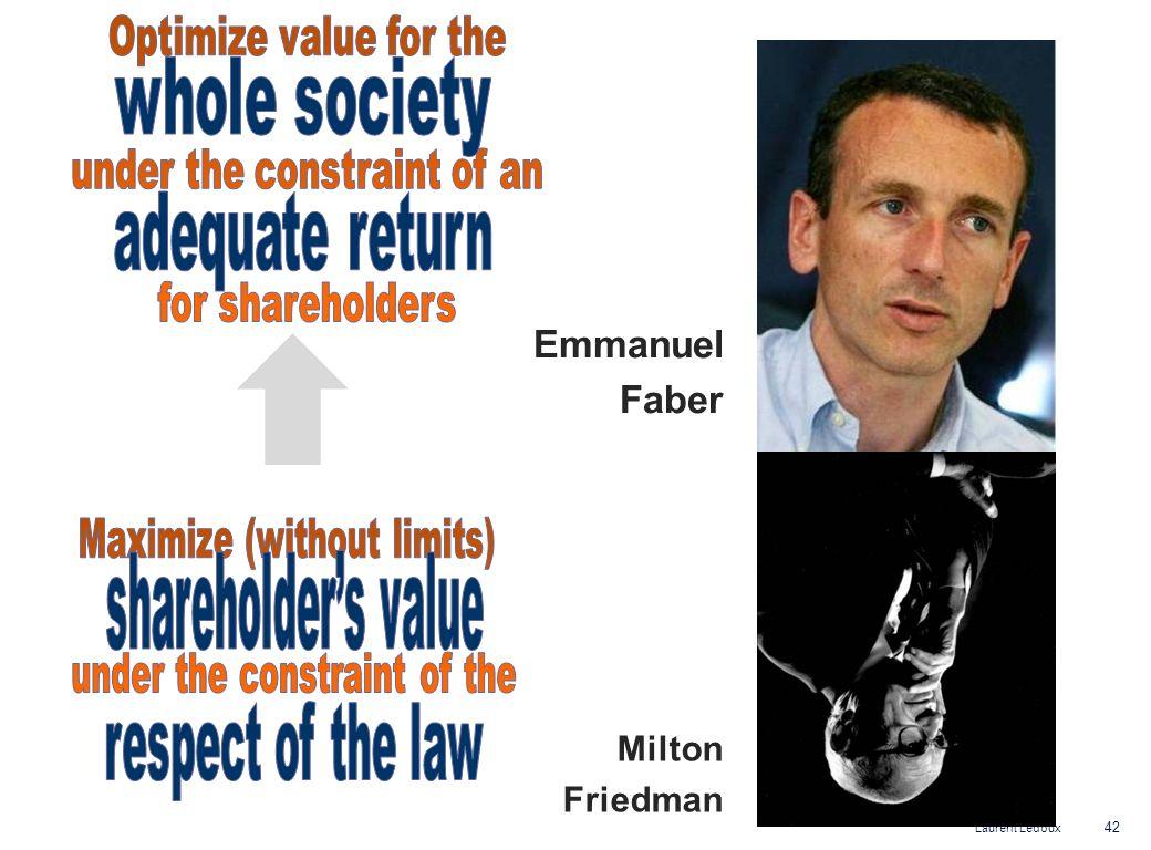 Laurent Ledoux Emmanuel Faber 42 Milton Friedman