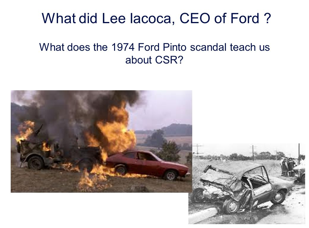 Laurent Ledoux 5 What did Lee Iacoca, CEO of Ford .