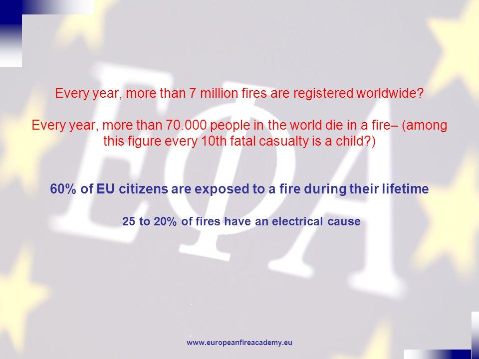 www.europeanfireacademy.eu Electrical problems Presentation from Jonathan Manson - European Copper Institute Electricity & Energy Project Advisor