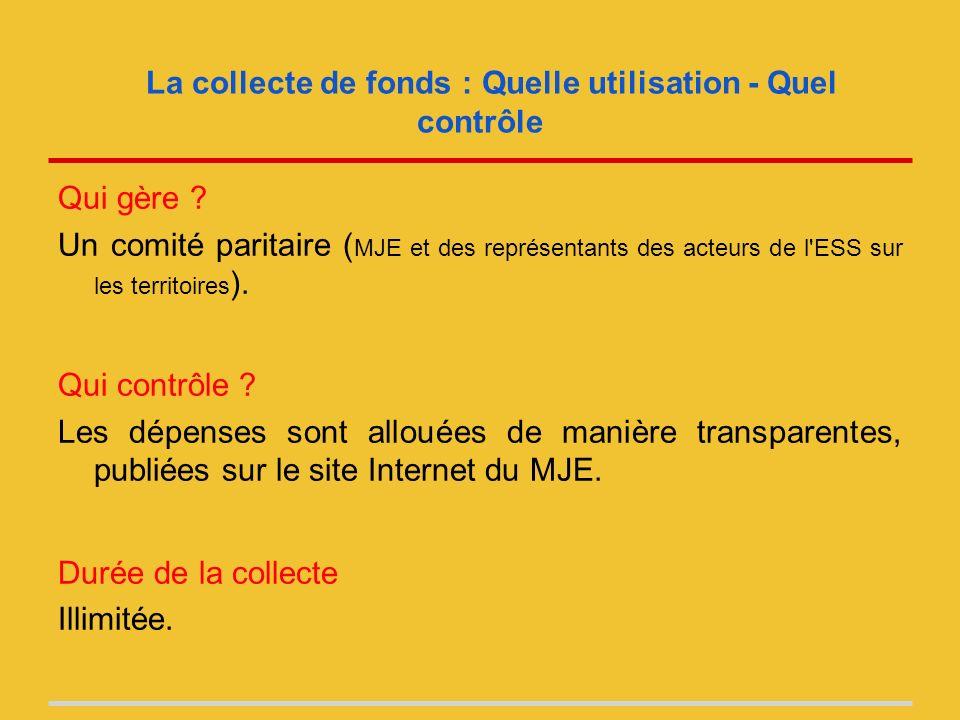 La collecte de fonds : Quelle utilisation - Quel contrôle Qui gère .