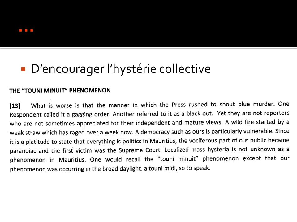 Dencourager lhystérie collective