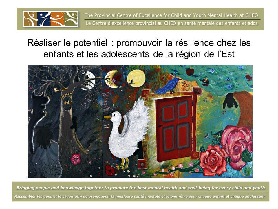 Réaliser le potentiel : promouvoir la résilience chez les enfants et les adolescents de la région de lEst