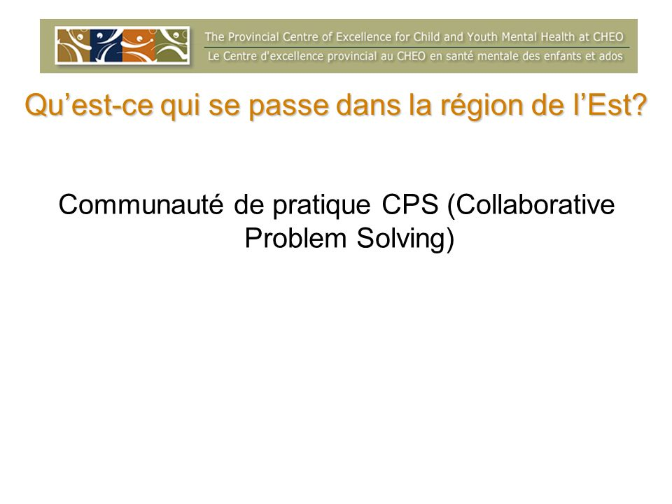 Ottawa Community of Practice Collaborative Problem Solving