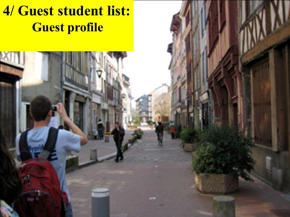4/ Guest student list: Guest profile