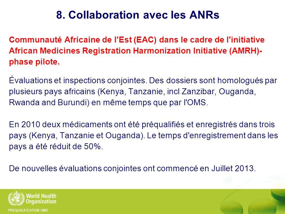 PREQUALIFICATION OMS Communauté Africaine de l'Est (EAC) dans le cadre de l'initiative African Medicines Registration Harmonization Initiative (AMRH)-