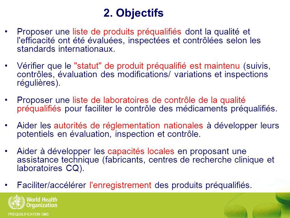 PREQUALIFICATION OMS Nombre d inspections effectuées depuis 2005 3. PQ médicaments: inspections